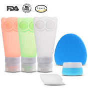 Leak Proof Travel Bottles Set,WinnerEco Portable Soft Silicone Travel Containers with Double Sucker Refillable Squeezable BPA Free Silicone Bottles for Cosmetics,Shampoo,Lotion,Soap,Sunblock