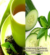 BULK Fragrance Oil - GREEN TEA & CUCUMBER Fragrance Oil - Garden fresh cucumber blends with natural green tea to create a light and refreshing, therapeutic scent - By Oakland Gardens