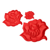 U-Sky Floral Rose Patches Flower Embroidery Iron-on Appliques DIY Article of Clothing