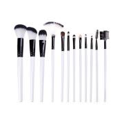 12 Pcs/Set Makeup Brush Set Synthetic Foundation Blending Blush Face Powder Brush Makeup Brush Kit by Team-Management