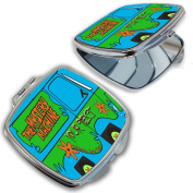 BleuReign(TM) Personalised Custom Name The Mystery Machine Van Compact Mirror