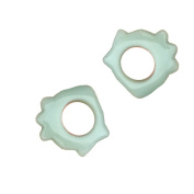 Lifetop 2pcs Natural Ring-shape Jade Stone Gua Sha Scraping Massage Tool, Beauty Massage Tool for Set Spa Relaxing