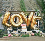 B-G Letter Balloons A (110cm ) Large Alphabet Letters Balloon Gold Aluminium Foil Film Balloons for Independence Day Wedding Birthday Bridal Shower Celebration Party Home Decoration (A-Z) BA-A