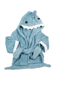 Baby Hooded Towel with Shark Design - Soft, Super-Absorbent 100% Cotton, Aqua Blue, Ideally Sized Hooded Bath Towel for Newborn - 12 Months