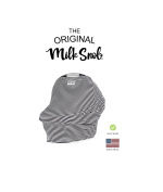 "AS SEEN ON SHARK TANK The Original Milk Snob Infant Car Seat Cover and Nursing Cover Multi-Use 360° Coverage Breathable Stretchy ""Cosmo"""