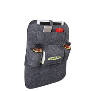 Car Backseat Organiser, Hang Rui Multi-pocket Storage Bag, Back Seat Protector for Kids Children