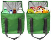 Earthwise Large INSULATED Grocery Bag Shopping Tote Cooler with ZIPPER Top Lid KEEPS FOOD HOT OR COLD