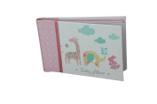 "Baby Photo Album 4 x 6 Brag Book ""Lullaby Girl"" - Baby Shower Gifts, - Holds 24 Precious Photos, Acid-free Pages"