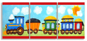 The Kids Room by Stupell Choo Choo Train in the Sun 3-Pc. Rectangle Wall Plaque Set