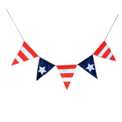 Flying Fish American Flag Banner Triangle Burlap Flag With Stars Strips Pennant for Decorations, Birthdays, Weather Resistant, Event Supplies, Festivals