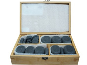 40pc Unpolished Basalt Large Ovular Massage Spa Hot Stone Rock Box Set