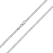 Bling Jewellery Sterling Silver Mens Curb Cuban Chain Necklace 80 Gauge