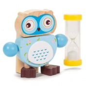 Owl Toothbrush Timer - Tobar Design Wooden Holds Novelty Childs Kids