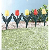 24 X Plastic Tulip Flower Bed Garden Border Grass Lawn Edge Fence Waterproof All