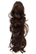 PRETTYSHOP 60cm Hair Piece Ponytail Extension wavy Nature Looking Heat-Resisting Brown mix H29