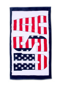 Beach Towel, Sauna Towel USA SIGN Size 180 cm x 100 cm