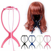 Foldable Wig Display Stand Mannequin Dummy Head Hat Holder, Stable