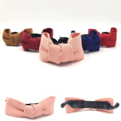 BFlowerYan 5 Colour Handmade Cloth Bow Tie Clip Hair Clips Claws Clamps