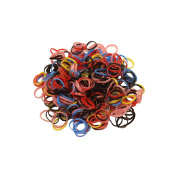 300 Poly Rubber Braiding Plaits Hair Elastic Bands Small Clear and Colourful