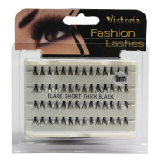 Knotted Eyelashes Ultra Thick Individual Flare Cluster Lashes Black