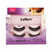 (6 Pack) LAFLARE Velvet Remy Lash Double Pack - V66D