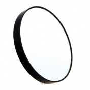 10x Magnifying Mirror 2 Suction Cups Black Enlargement Close Up View Tweezing Small Compact Travel Beauty Make-Up Mirror