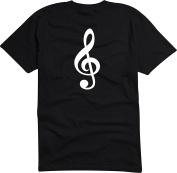 Black Dragon - T-Shirt Man - Violin key - musical key
