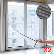 AllRight 2 x White Window Screen Mesh Net Insect Fly Mosquito Moth Door Netting