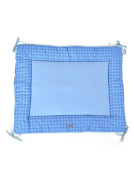 Glorious Collection Lou Playpen Blanket 95 x 75 cm – 100% Organic Cotton – Sky Blue