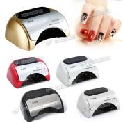 Gel Nail Dryer 48w Led Ccfl Nail Art Uv Lamp Polish Curing Timer 5 Colours