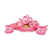 Pink Wooden Tea Set Role Play Toy Girls Xmas Birthday Party Bag Filler