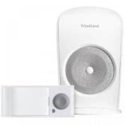 Friedland White Wireless Door Chime Kit Doorbell Push Bell Wirefree Set D3003s
