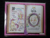 Gift For Isla Princess Unicorn Pink Mount With Special Verse And Choice Of Photo Frame