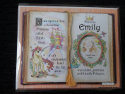 Gift For Emily Princess Unicorn Mount With Special Verse And Choice Of Photo Frame