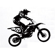 Winhappyhome Motorcycle Racing Driver Wall Art Stickers for Bedroom Living Room Coffee Shop Background Removable Decor Decals