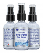 Hyaluronic Acid Serum | Anti-Ageing | Organic | Anti-Wrinkle Skin Care Supplement with Vitamin C Serum & Intense Organic Moisturiser with MSM and Green Tea | Restore the skin's hyaluronic acid content and gives skin a younger, fresher, more supple look ..