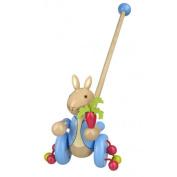 Orange Tree Wooden Peter Rabbit™ Push Along | Peter Rabbit Toy | Wooden Toys