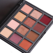 Eyeshadow Palette Makeup - Matte & Shimmer 12 Colours - Highly Pigmented Waterproof - DiChi Smoky Cosmetic Eye Shadows