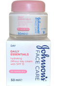 Johnson and Johnson Johnsons Face Care Daily Essentials Hydrating 24hour Day Cream 50ml for Normal Skin SPF15