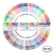 Gel Pens Multi Coloured Pens for Adult Colouring Books Drawing Pack of 100 Colouring Pens by FUNLAVIE