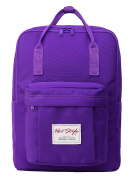 Cute Convertible Backpack for Girls - HotStyle Waterproof Schoolbag 16L - Purple