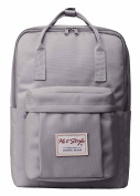 Cute Convertible Backpack for Girls - HotStyle Waterproof Schoolbag 16L - LightGrey