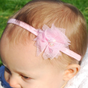 QueenMee Ballerina Baby Headband Set Baby Pearl Headband Set Ivory Baby Headband Set Peach Baby Headband Set Baptism Headband For Baby Girl