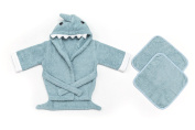 Hooded Baby Bath Robe & Washcloth | Extra Soft to Keep Baby Warm & Cosy | for infants & toddlers