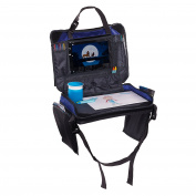 Kids Car Backseat Travel Organiser | Play 'N Tray | Lap Tray w/ Cup Holder | Mesh Pockets Tablet iPad Holder | Children's Snack Desk