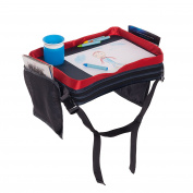 Play 'N Tray | Kids Car Backseat Travel Tray | Lap Tray w/ Cup Holder | Mesh Pockets | Children's Snack Activity Desk |