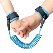 Talent Fashion Anti Lost Belt Wrist Link/Band Safety Harness Soft Cuff Secure Cut-Proof Core for Kids/Toddler Preschoolers Blue