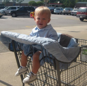 Nursery-To-Go Grocery Cart Cover in Baby Boy Blue