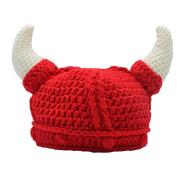 Baby Infant Girl Hat Toddler Knit Viking Beanie Crochet Handmade Cap Photography Props