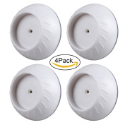 4 Pack Wall Guard Pads- Baby Gate Wall Protector Saver - Stair Gate Wall Protection - Child Safety Gate Wall Pads for Dog Gate, Pressure Gate, Wide Pet Gate Wood - Small 6.5cm